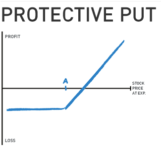 Protective put options strategy
